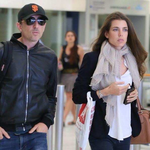 Charlotte Casiraghi And Gad Elmaleh At Paris-Orly Airport