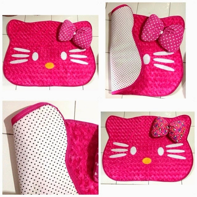 PUSAT GROSIR KARPET KEPALA HELLO KITTY MINI
