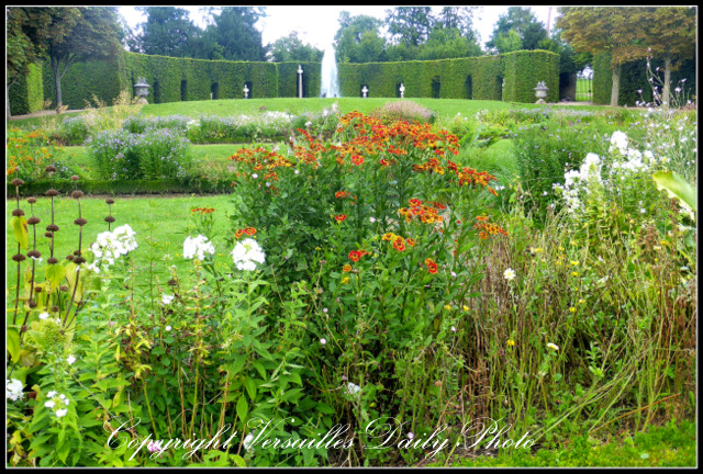 Fountains flowers Grand Trianon Versailles