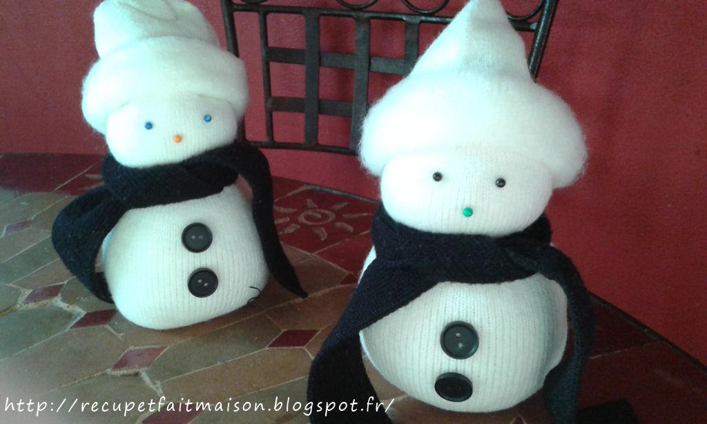 R cup et fait maison des id es r cup et d co d co de no l bonhomme de neige en chaussette - Bonhomme de neige en chaussette ...
