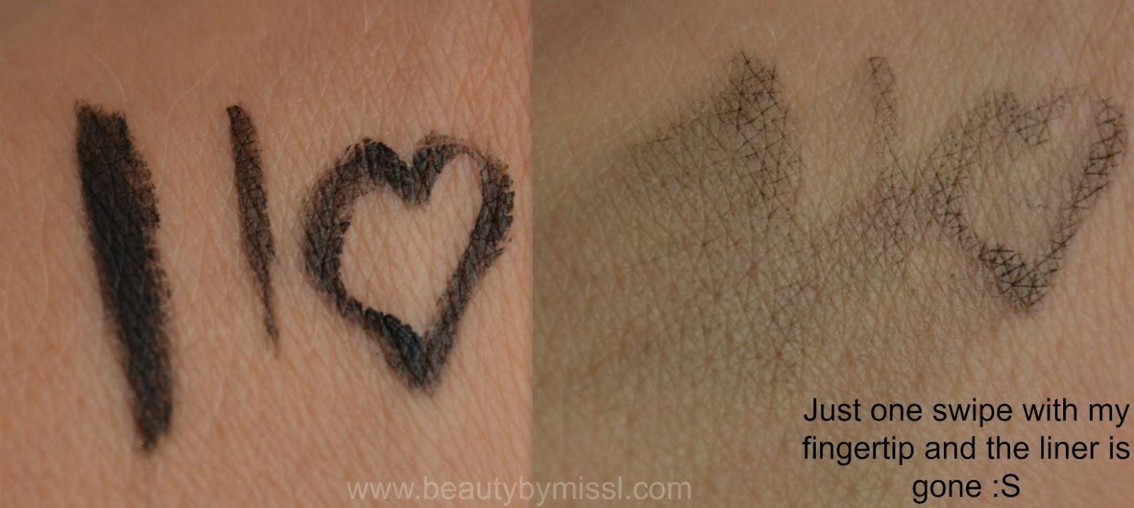 BYS Black Magic Eyeliner swatches