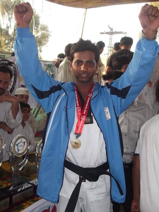 Fasihuddin got Gold Medal in Sindh Games 2011-Sukkur
