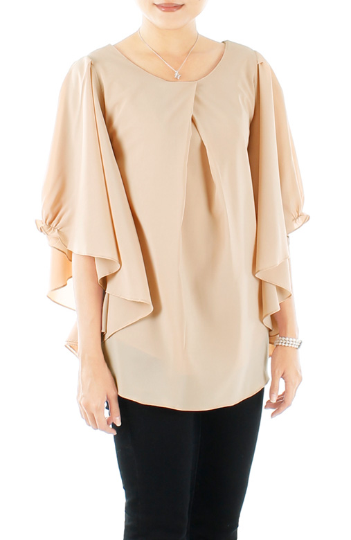 Wheat Colette Flutter Sleeve Blouse