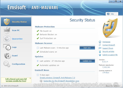 Expired - Emsisoft Anti Malware - 6 month GIVEAWAY ...