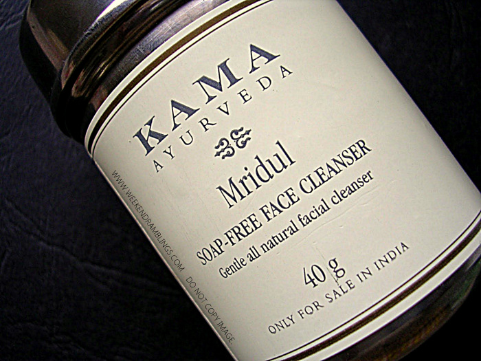 Kama Ayurveda Mridul Soap-Free Face Cleanser wash Natural Skincare Products Indian Beauty Makeup Blog Review Ingredients How to Use