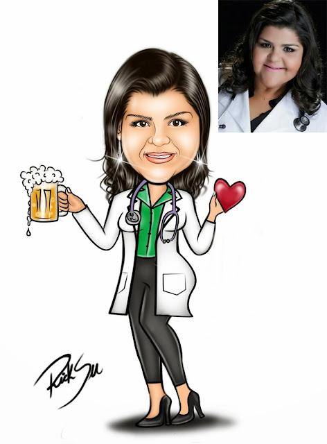 cardiologista com ricksu caricaturas