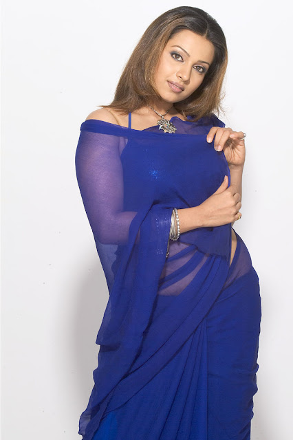 Asha Shaini Photoshoot In Blue Saree