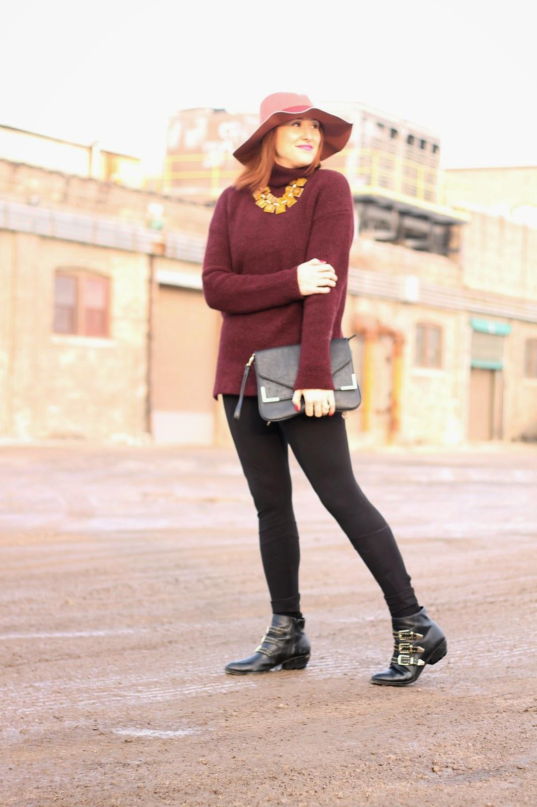 zara, sweater, hat