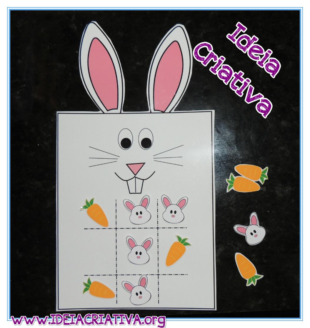 Jogo Pedagógico Coelhinho Cute Lembrancinha de Páscoa