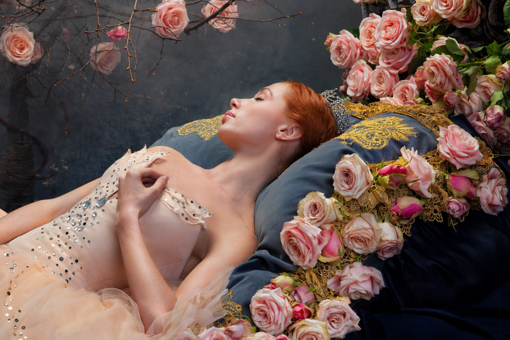 Die schlafende Iana Salenko