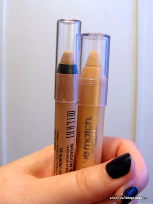 Milani Naturally Chic Shadow Eyez in Almond Cream and  L'Oreal True Match Super Blendable Crayon Concealer  in Fair/Light