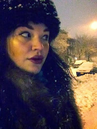 Brooklyn snow day, Williamsburg Brooklyn snow storm 2015, Faux fur hat and coat, Olivia INkster, style blogger, Brooklyn fashion hip style