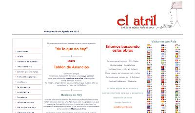 Directorio Musical con Blogs y Webs Relacionadas con el Mundo de la Música. Directoriopax. Partituras en www.diegosax.es