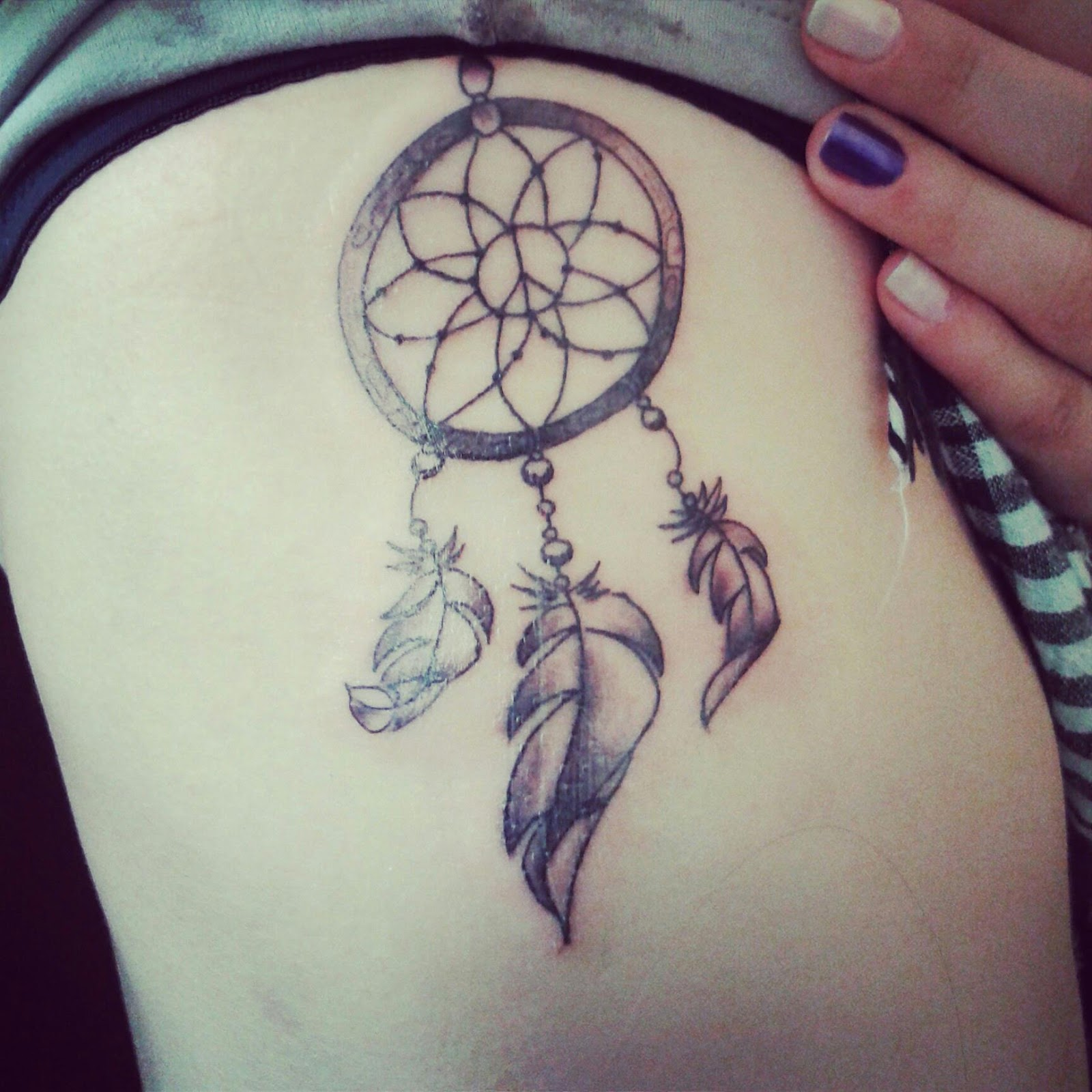Dreamcatcher Waist Tattoos