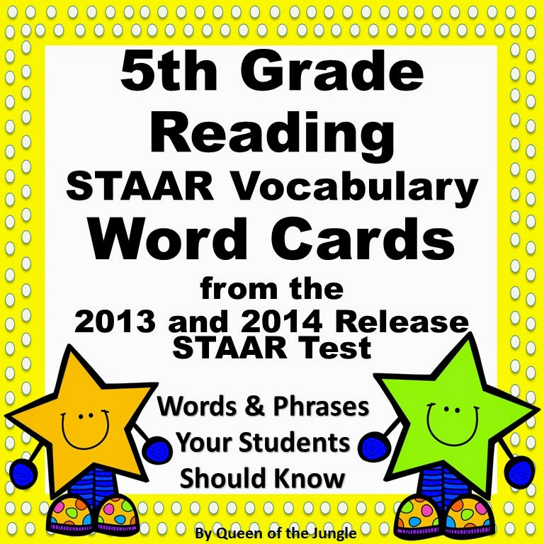 https://www.teacherspayteachers.com/Product/STAAR-Reading-Vocabulary-5th-Grade-1697744