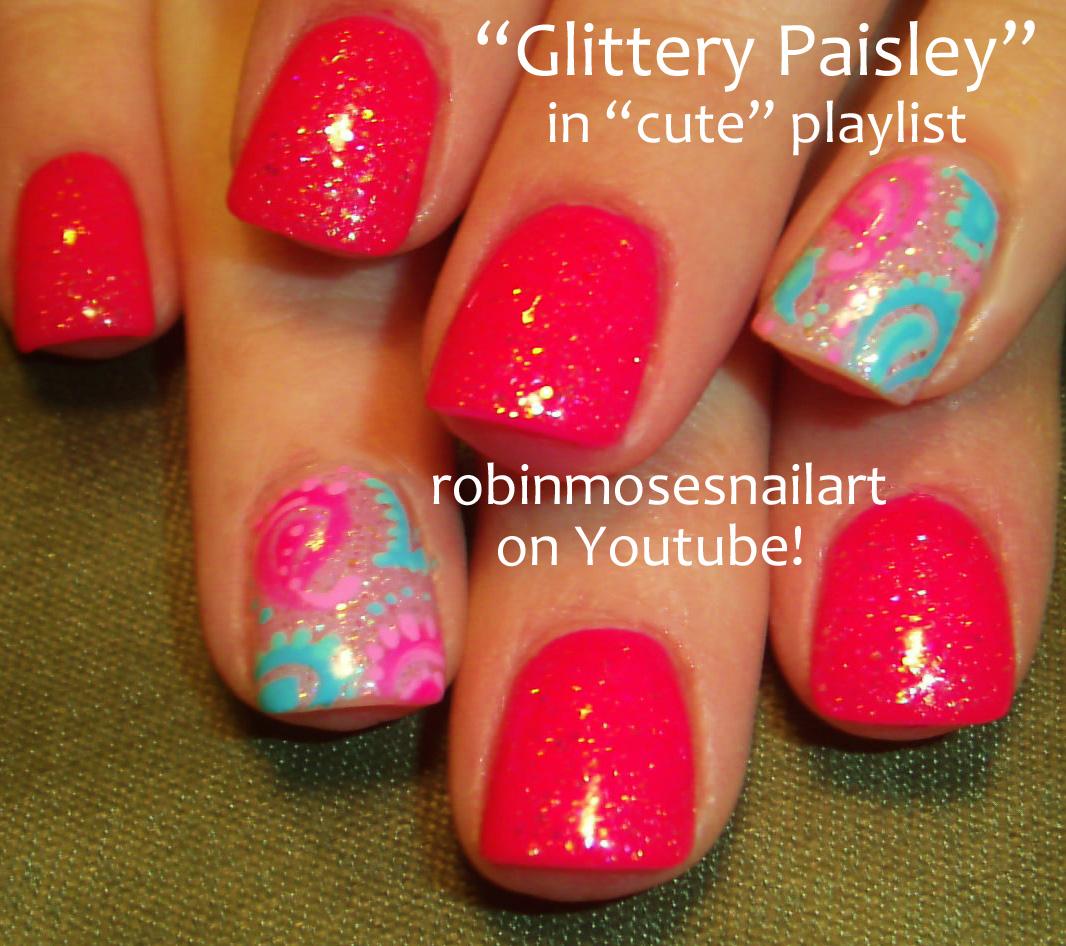 """Paisley Nail Art: Robin Moses Nail Art: Rainbow Paisley Nails! """"rainbow"""