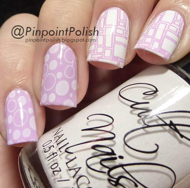 Cult Nails Tempest, China Glaze Sweet Hook, LeaLaC XL B, Llarowe, stamping, Konad White Lilac