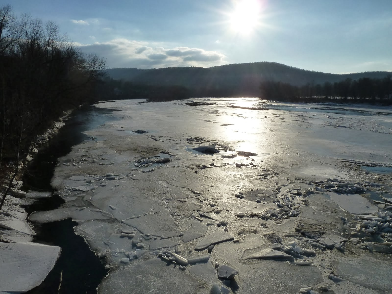 Susquehanna River @ Laceyville, PA on 3/9/14