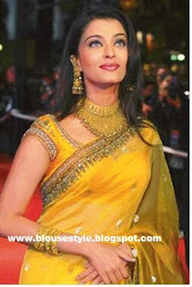 yellow color netted saree