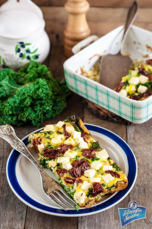 Omlet z jarmużem