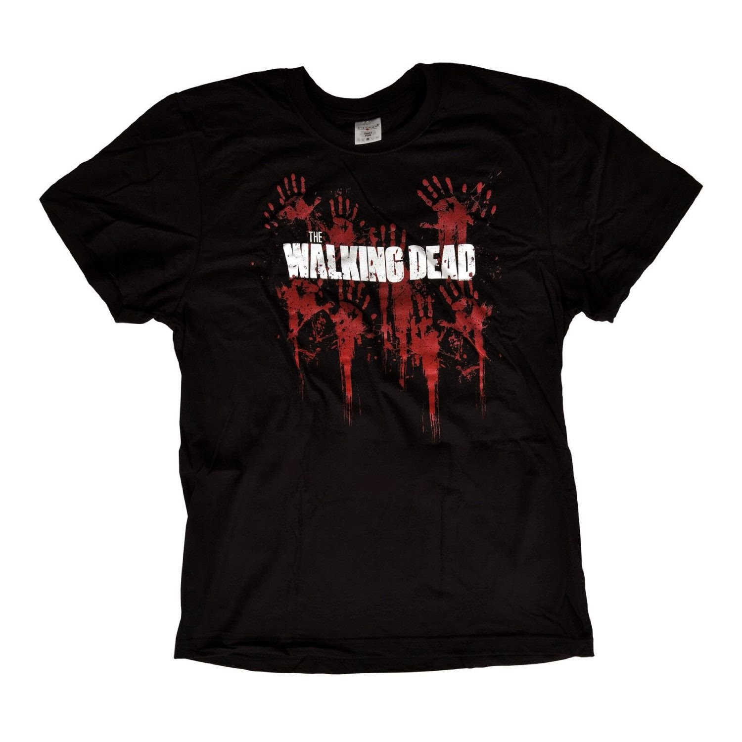 regalo navidad Camiseta The Walking Dead negra