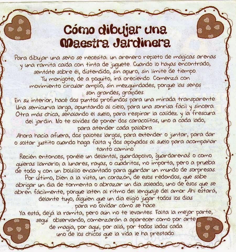 Frases Da Del Maestra Jardinera