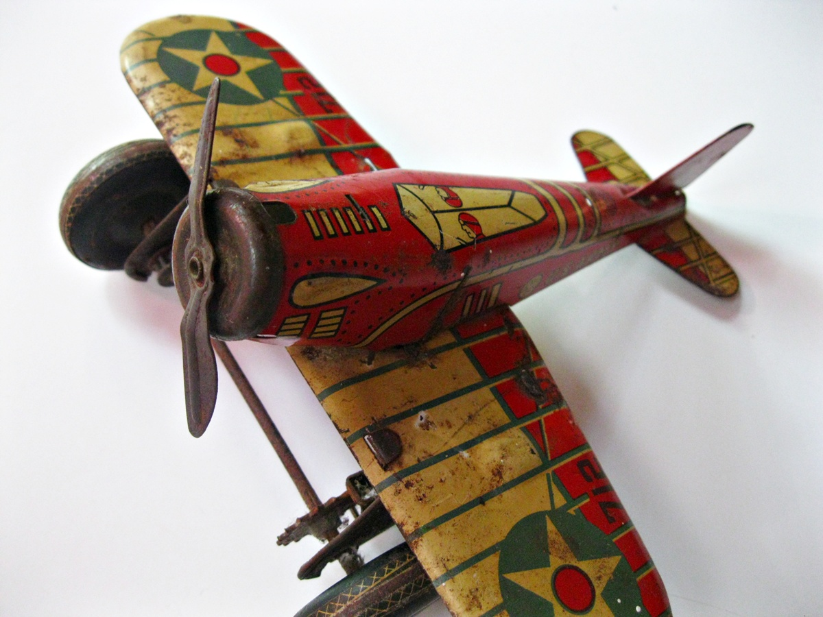 Toys From The 40s : Wasted wishes vintage toys s tin army plane