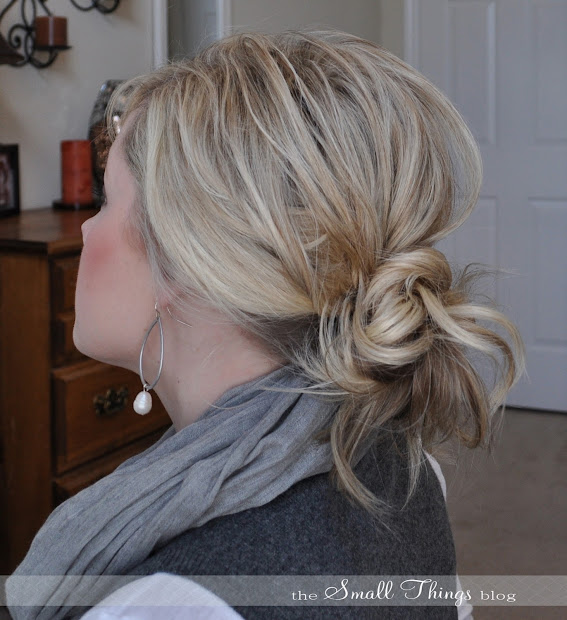 messy ponytail bun small