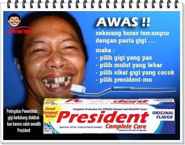 Iklan Lucu | Pasta Gigi President | BLOGKUPLAK | Portal