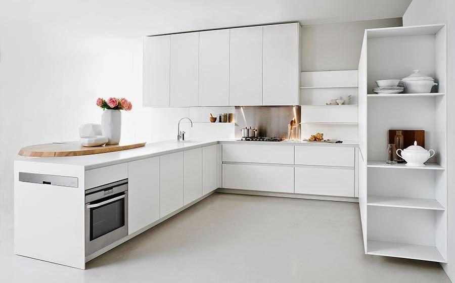 Cocinas Minimalistas para ahorro de espacio para Casas Pequeñas