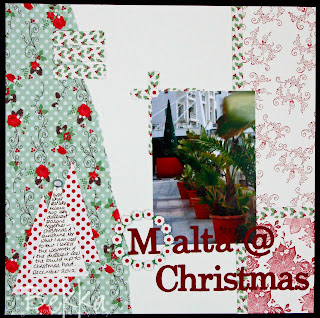 Scrapbook Page Malta at Christmas