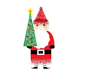 Click on Santa to go to my Christmas Blog