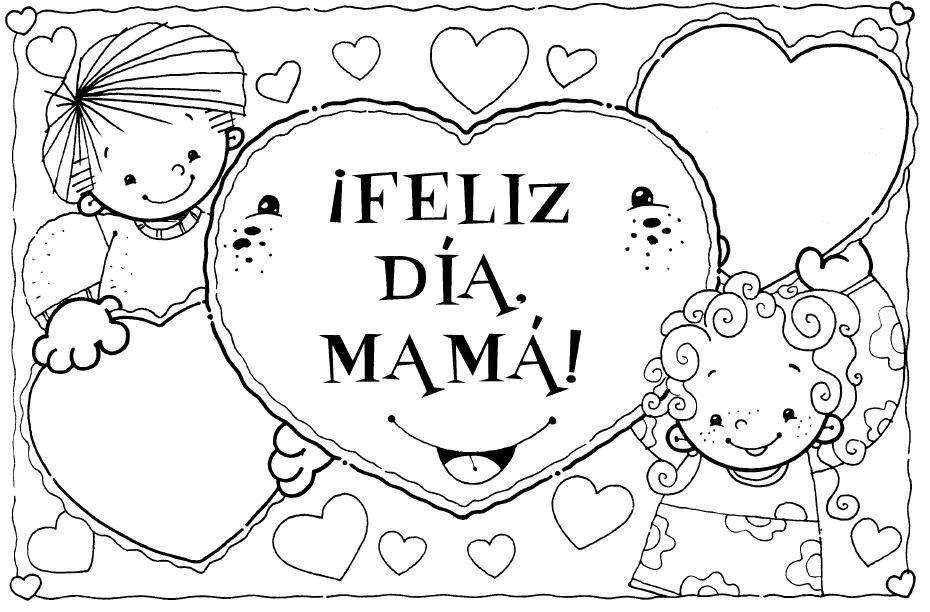 Descarga los dibujos para colorear del día de la madre
