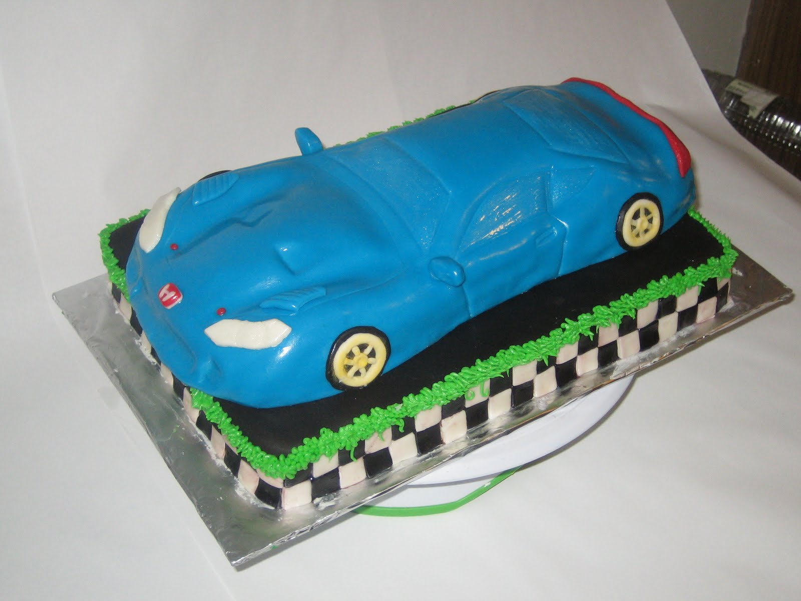 Easy Car Cake Design : Sweet & Simple - Custom Cake Design: Sports Car Cake ...