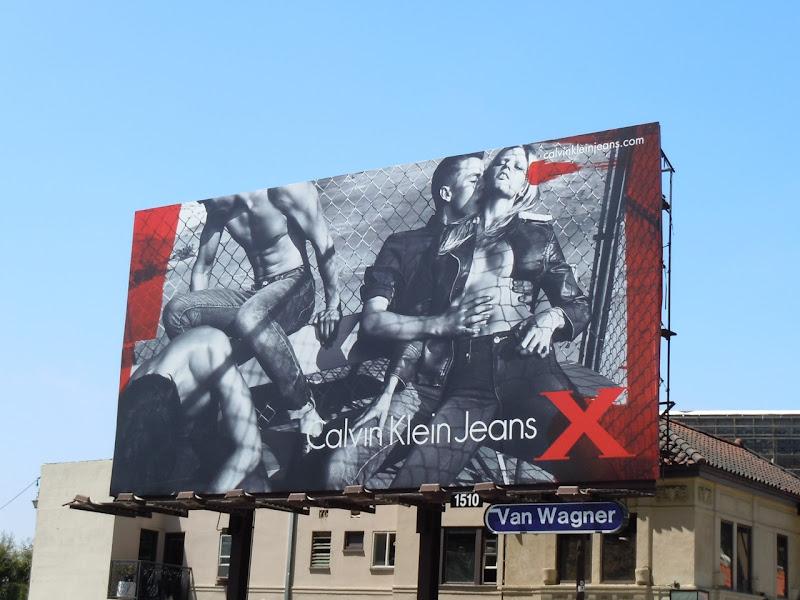 Calvin Klein Jeans X Lara Stone billboard