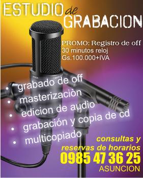 ESTUDIO DE GRABACION