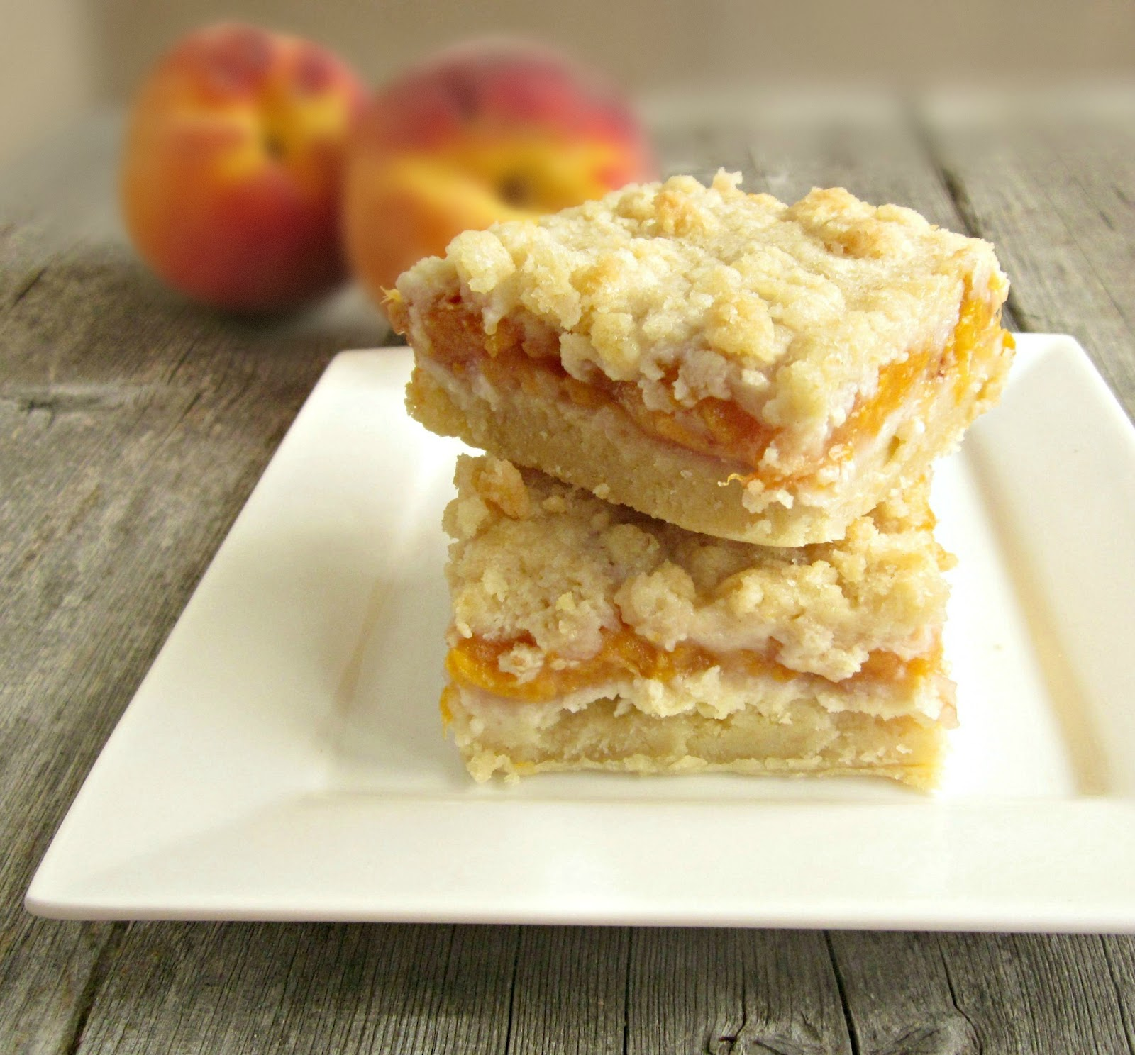Hungry Couple: Peach Crumb Bars