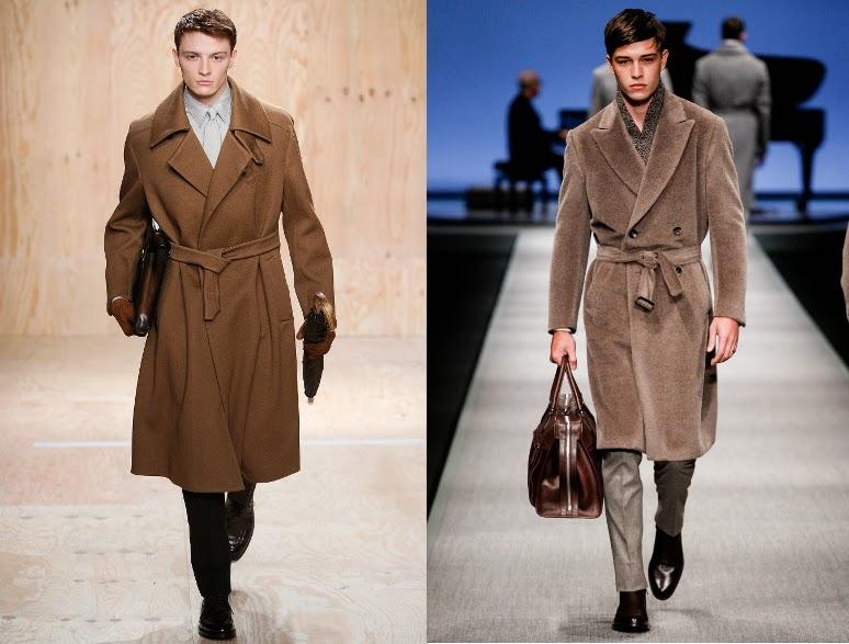 Długie płaszcze z pasem