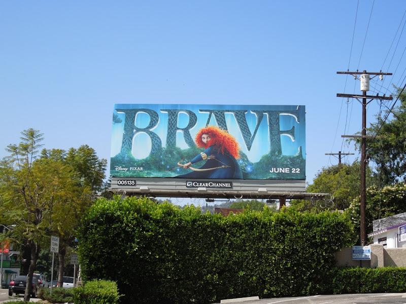 Brave movie billboard