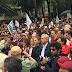 Continúa marcha masiva convocada por AMLO en apoyo a profesores de la CNTE