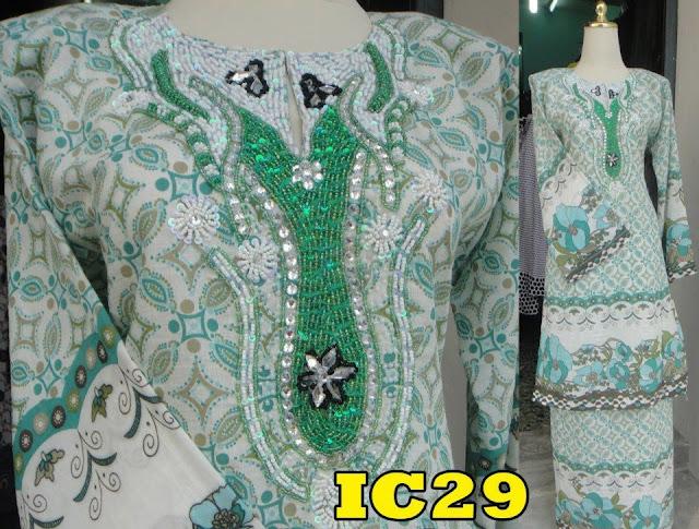 Baju kurung pahang manik hijau