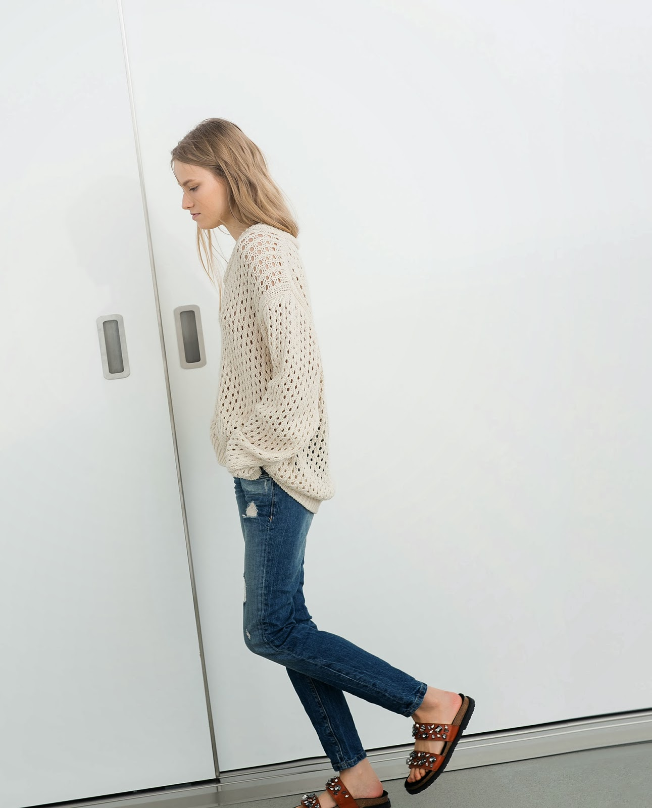 zara cream jumper