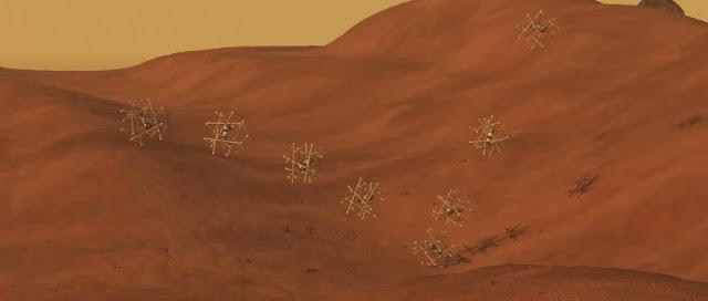 Image of the SuperBall landing. Credit: NASA