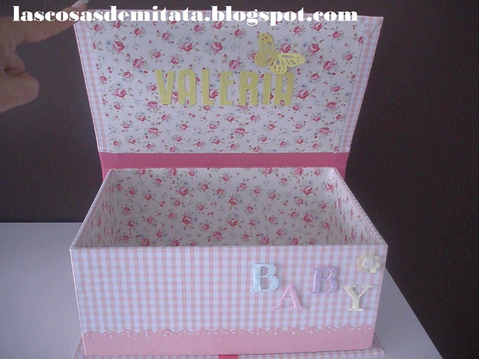 Las cosas de mi tata caja para pa ales - Cajas de carton decoradas para bebes ...