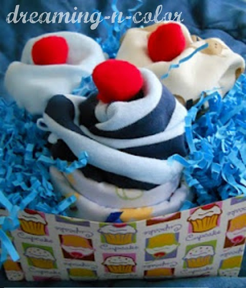 how to make a onesie cupcake cake