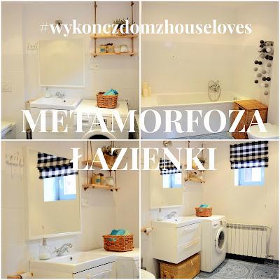 """Metamorfoza małej łazienki – """"Wykończ dom z HOUSE LOVES"""""""