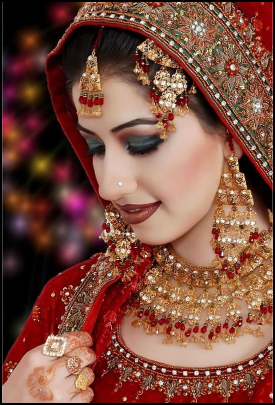 Full Bridal Makeup Tips : Pakistani Brides Looks 2013-2014 - Fashion Photos