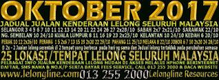 01-31/10/17 JADUAL 63 KALI JUALAN KENDERAAN LELONG SELURUH MALAYSIA & SEKITAR KLANG VALLEY-SGR/K L
