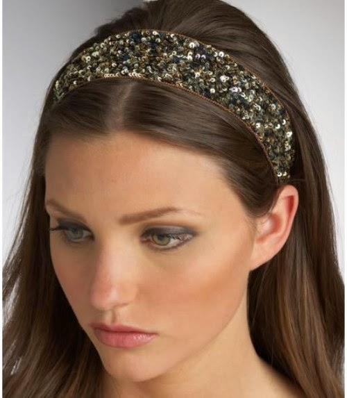 Cute hairstyles with sparkling headband
