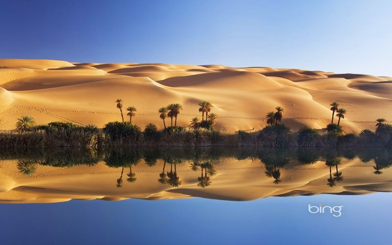 The beautiful oasis in the Sahara desert - Ubari Lakes ...